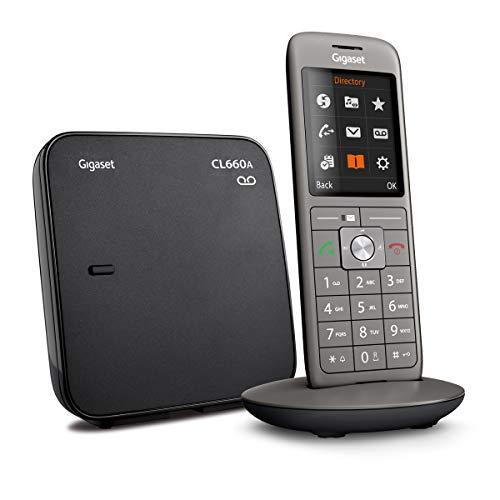 Gigaset CL660A Telefon – Schnurlostelefon / Mobilteil – mit Farbdisplay / Grosse Tasten – Design Telefon / Anrufbeantworter / Freisprechen / Analog Telefon, anthrazit - 3