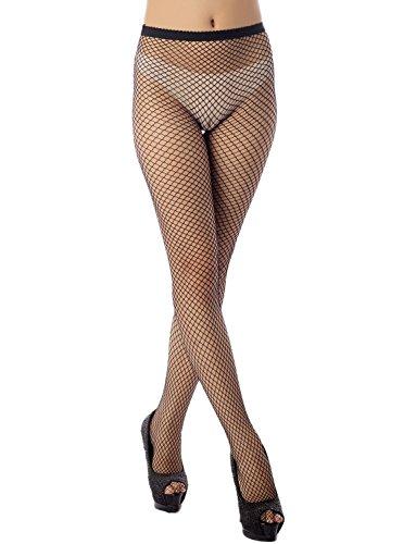 iB-iP Damen hohe elastische extra klein bis plus Größe Mitte Taille Erotische Strumpfwaren, Größe: Einheitsgröße, M3 Schwarz -
