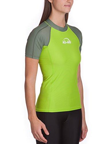 UV Schutz Bekleidung: iQ-UV Damen 300 Eng Geschnitten Schutz T-Shirt Uv-Shirt, Neon Green