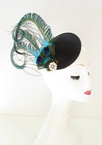 Vert Noir Bibi avec plumes de paon bandeau Races Pince à cheveux vintage 20 A26 * * * * * * * * exclusivement vendu par – Beauté * * * * * * * *