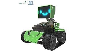 Kit de construcción de Robot 6-en-1 Robótica para niños, Qoopers STEM Juguete Educativo, Codificación Arduino y Programación Gráfica, Bloques de metal Robobloq DIY, Regalo para niño o niña Edad 8+