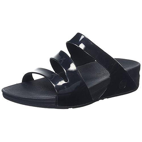 Novy Slide, Sandales Femme - Noir - Black (Black 001) - 37 EU (4 UK)FitFlop