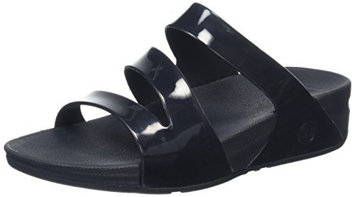 FitFlop Superjelly Twist, Damen Sandalen Schwarz (Schwarz)