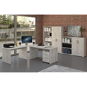 Büromöbel – Arbeitszimmer – Büro Möbel – Büroeinrichtung – Komplettset 8-Teilig
