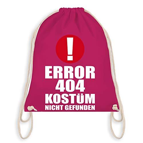 Karneval & Fasching - ERROR 404 Kostüm nicht gefunden - Unisize - Fuchsia - WM110 - Turnbeutel & Gym ()