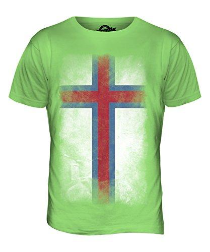 CandyMix Färöer Verblichen Flagge Herren T Shirt Limettengrün