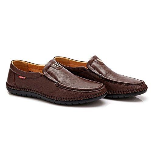 HENGJIA Herren Klassische Loafers Freizeitschuhe Schlupfhalbschuhe Bequeme Fahrerschuhe 97720 Braun