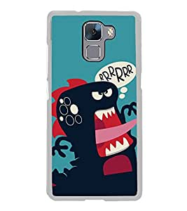 Funny Cartoon 2D Hard Polycarbonate Designer Back Case Cover for Huawei Honor 7 :: Huawei Honor 7 Enhanced Edition :: Huawei Honor 7 Dual SIM