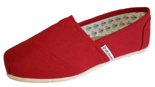 Dunlop, Espadrillas basse donna Rosso (Poppy Red)