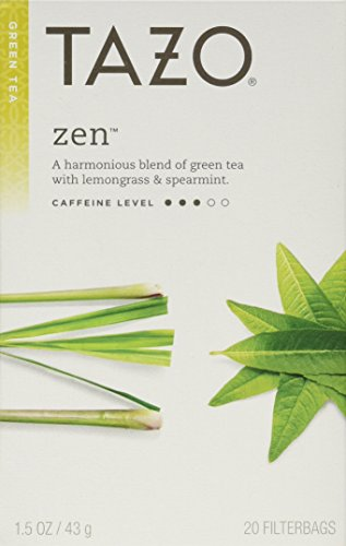 Tazo Zen Green Tea 2-pack;40 Tea Bags.