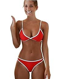 0e17d880940c6 OverDose Frauen Bademode Beach Push-up gepolsterter BH Bikini Set Damen  Badeanzug Sets Swimsuit Swimwear