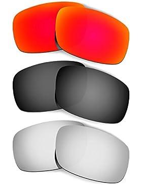 Hkuco Plus Mens Replacement Lenses For Oakley Crankshaft - 3 pair Combo Pack