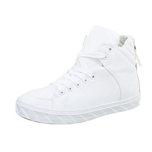 Ital-Design Scarpe da Donna Sneaker Piatto Sneakers High Rosa Taglia 40 JePmfJci