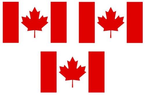 m - Fahrradaufkleber Kanada Canada Aufkleber Sticker fürs Fahrrad Motorrad Auto (3x5 Kanada Flagge)