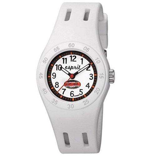 Esprit Kids - ES103464005 - Fun Racer - Montre Mixte - Quartz Analogique - Cadran Blanc - Bracelet Polyuréthane Blanc