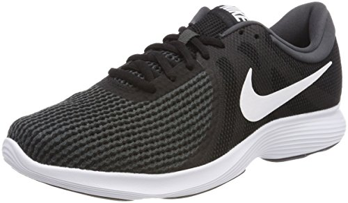 Wmns Revolution 4 EU, Zapatillas de Running para Mujer, Gris (Gunsmoke/Ocean Bliss-Dark Grey-White-Black 004), 38.5 EU Nike