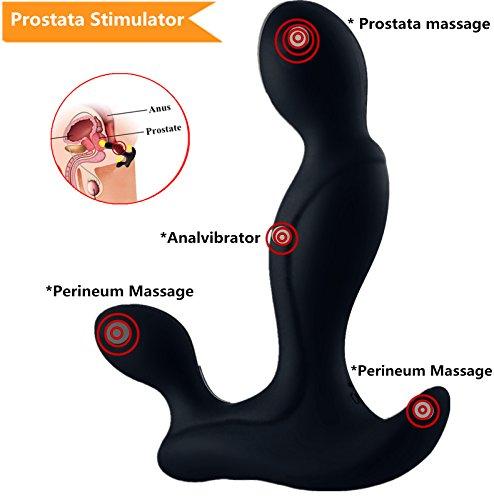 Prostata Stimulator Prostatamassage Analplug Sexspielzeug Analspielzug für männer Analvibratoren Analdildos: 4 Vibrationsmodi und 3 Intensitätsstufen. Test