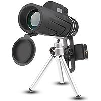 Joygeek monocolo, 10x 42Handheld monoculare telescopio con treppiede per Smart Phone, bassa visione notturna prisma telescopio HD telescopio per Wildlife & Bird watching, climbing, caccia