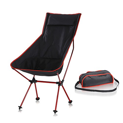ROOKLY Heavy Duty Folding Chair Oversized Camping Chair Portable Padded Chair Lumbar Back Support For Fishing Hiking Travel Garden