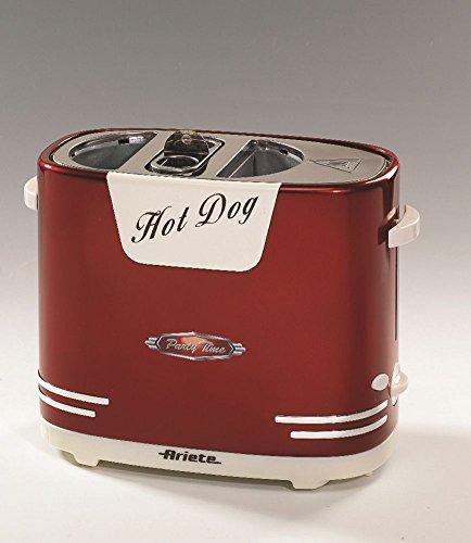 Ariete 186 Hot Dog Maker im 50-er Jahre Retrodesign, 650 W