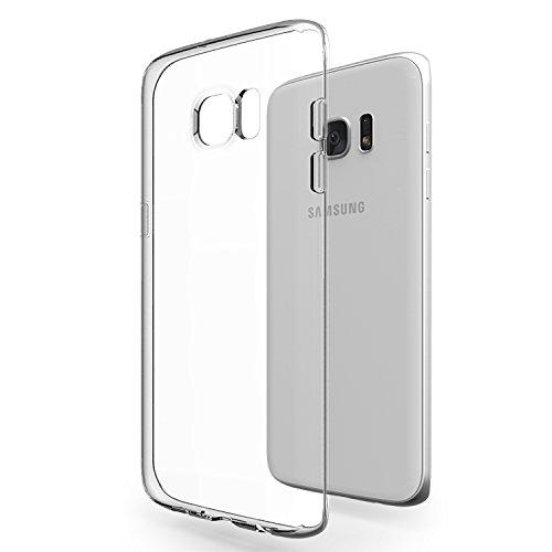 Azorm Handyhülle für Samsung Galaxy S7 Edge (5,5 Zoll) Crystal Edition Smartphone Hülle TPU, Schutzhülle Anti-Rutsch und Kratzfest - Transparent (Silikon)