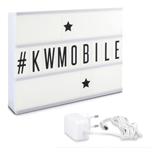 kwmobile-led-kino-lichtbox-a4-weiss-mit-105-schwarzen-buchstaben-und-stromkabel-netzteil-selbst-gest