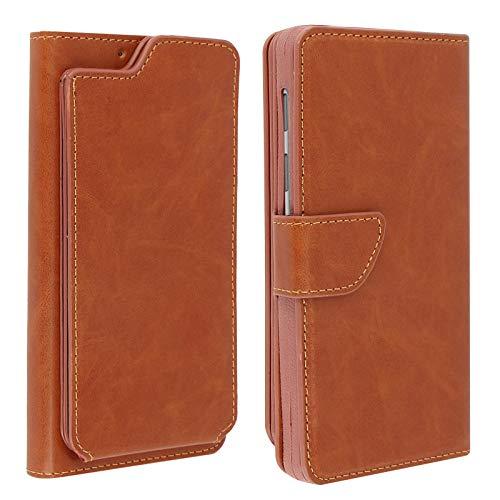 Jeija Universal Flip Wallet Cover, Klappetui für 5.3'' bis 5.5'' Smartphones, Slide Funktion & Geldbörse