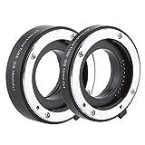 EBTOOLS 10 mm / 16 mm Tubo de Extensión de Enfoque Automático Anillo de Tubo de Extensión de Enfoque Macro para Fujifilm Fuji X FX/XF Cámara y Lente (Negro)