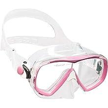 Cressi Kid's Estrella Jr Snorkeling/Diving Mask, Transparent/Pink, One Size