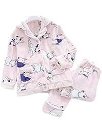 d436c22d97 Mmllse Pyjama Anzug Weibliche Herbst Und Winter SAMT Gesetz Hund  Langärmelig Niedlich Revers…