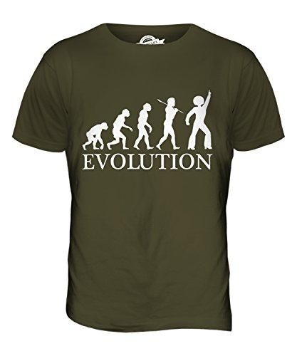 CandyMix Disco Musik Tanzen Evolution Des Menschen Herren T Shirt Khaki Grün