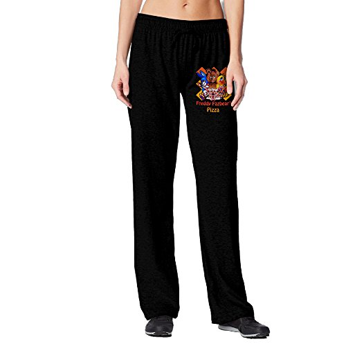 Five Nights At Freddys Pizza Sports Running Pants For Womans Black -  Black -