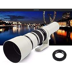 Téléobjectif 500 mm F6.3-32 pour et pour Nikon Appareils photo reflex numériques D5, D4, D3, D750, D500, D5500, D5300, D5200, D5100, D3300, D3200 et D3100