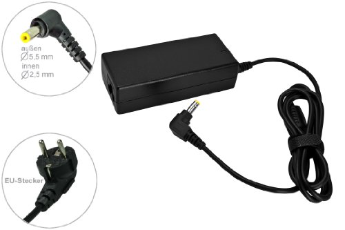 65W 19V Notebook Netzteil AC Adapter Ladegerät für Toshiba Tecra R950-18X R950-18V R950-10U R940-2002 R940-2000 R940-2014 R940-1GW R940-1GV R940 R850-1FC R840-17R R840-116 A50-A-17L R940-1ME Toshiba Partnumbers: PSCL5E-00600PGR , mit Euro Stromkabel