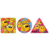 12 SMILEY FACE MAZE Mini Puzzle triangle circle square by The Toy Jar