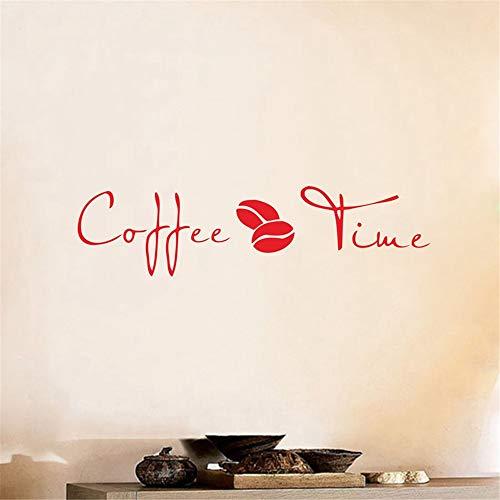 Kaffee Wall Art Decal Sticker, Vinyl Kaffee Wandaufkleber für Coffee Shop oder Büro Dekor 72 * 18cm