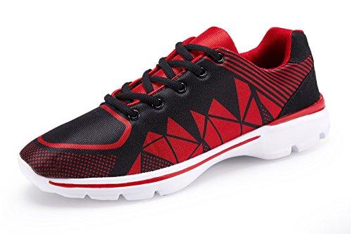 Rot Casual Schuhe (ummaid Herren Tennis Schuhe Casual Leicht Sport Laufschuhe Walking Sneakers, Rot - 43 EU)