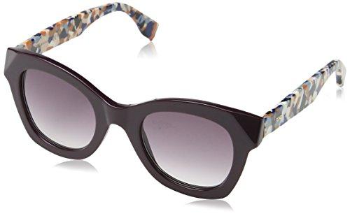 Fendi ff 0204/s j8 5nd 48, occhiali da sole donna, viola (plum multic/mauve sf)
