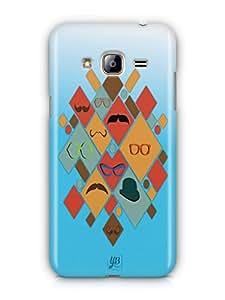 YuBingo Glasses & Moustaches Mobile Case Back Cover for Samsung Galaxy J3 2016