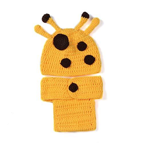 W&P wp Neugeborene Fotografie Kostüm Handgewebte Giraffe für Babys