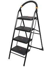 Branco; Ladder 4 Step Folding Ladder with Wide Steps {Milano} {GEC- L4M}