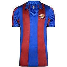 FCB FC Barcelona - Camiseta Oficial de FC Barcelona Retro 1982 para Hombre