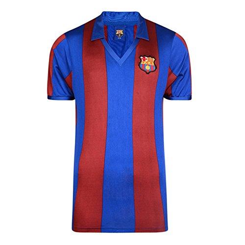 Camiseta oficial de FC Barcelona retro 1992 para hombre. Replica retor de 1982. 100% nailon. Lavado: Lavable a máquina. Producto con licencia oficial.