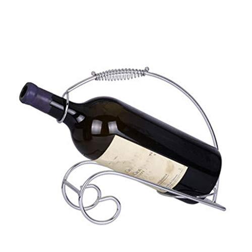 ZZSJC Weinregale, Weinhalter, tragbares Weinregal, 5-l-Weinregal, eisernes Weinregal, Weinregal, Weinständer, Wohnaccessoires - Ziel Weinregal Aus