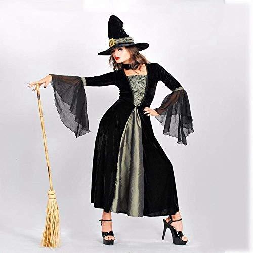 JUN Halloween Kostüme Frauen Spiel Uniformen Hexen Outfit Dämon Kostüme Halloween Cosplay Kostüm Thema Party Kostüm,* (Hexe Themen Kostüm)
