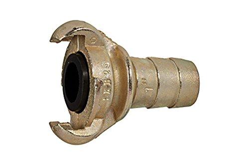 """Sicherheitskupplung / Klauenkupplung mit Schlauchanschluss LW 25 mm (1"""")und Sicherungsbund RI-KT25SB"""