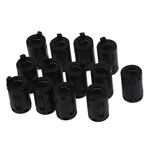 filtre en ferrite - TOOGOO(R)Diametre interne de 11 mm Coquille en plastique filtre en ferrite Clip Pour le cable 13 Pcs