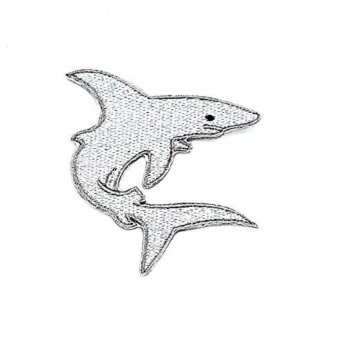 Shark ocean Marine Aquarium Angeln Cartoon Kinder Patch Hand bestickt und Bügelbild Symbol Jacke T-Shirt patches aufnäher Zubehör (Bananen-tank)
