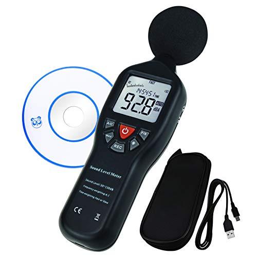 Data Logging Function decibel Fonometro con retroilluminazione display ad  alta precisione di misura 30dB ~ 130dB strumento Compact Professional (con