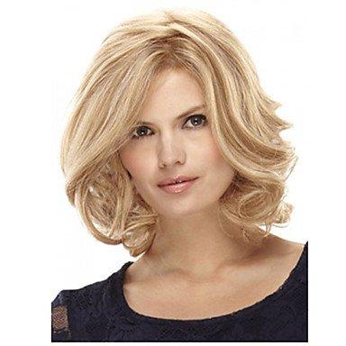 HJL-12 pouces femmes courte ligne droite cheveux synth¨¦tiques perruque blonde , blonde